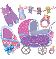 Baby accessory cute Set vector image