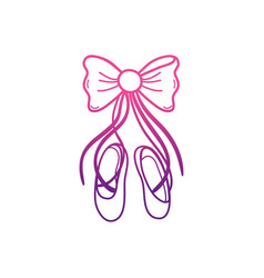 Ballet shoes design vector