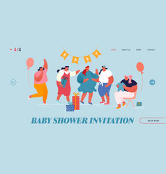 Bashower event website landing page female vector