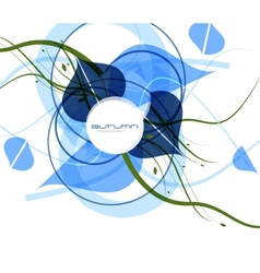 Blue cold abstract background vector image