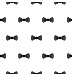 Bow tie black and white seamless pattern vector image