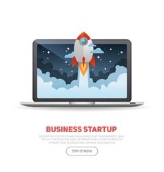 Business start up concept template vector