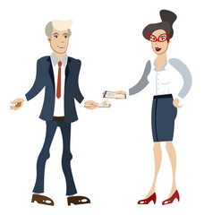 businesswoman and businessman isolated vector image