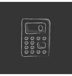 Calculator Drawn in chalk icon vector image