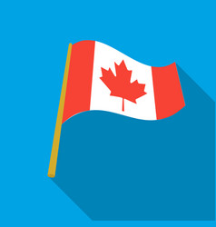Canadian flag icon in flate style isolated on vector