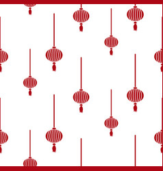 Chinese lantern simple seamless pattern vector