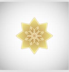 Circular geometric ornament vector