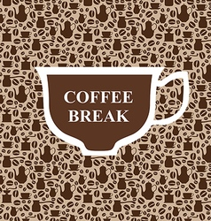 coffee breack beige vector image
