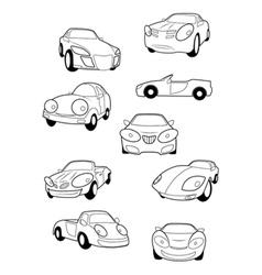 Collection of car vector image