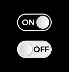 cool realistic toggle switch onoff vector image