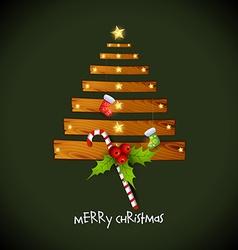 Creative christmas tree with wood vector