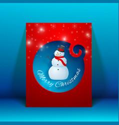 creative merry christmas greeting card vector image