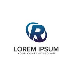 creative modern letter r logo design concept vector image
