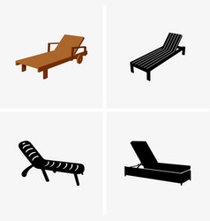 deck chairs vector image