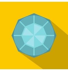 Diamond icon flat style vector