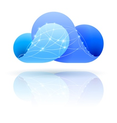 Digital cloud vector image vector image
