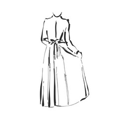 dress drawing hand drawn clothes sketch vector image