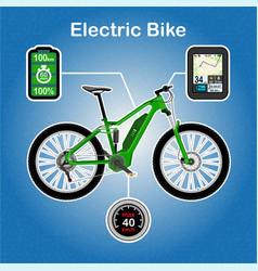 Electric bike vector