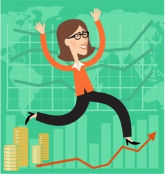 Financial success vector image