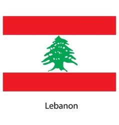 Flag of the country lebanon vector image