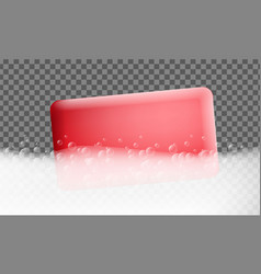 foam effect banner realistic style vector image