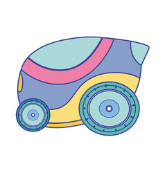 futuristic car with modern elements design vector image