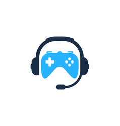 Game podcast logo icon design vector