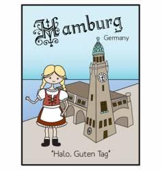 Hamburg Germany vector