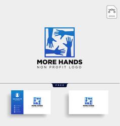 Hand care non profit logo template icon element vector