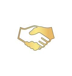 handshake computer symbol vector image