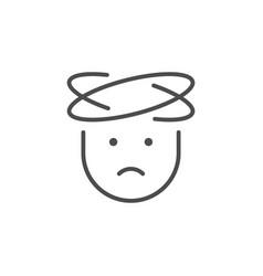 headache line icon or flu concept vector image