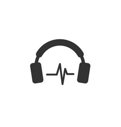 headphone icon design template vector image