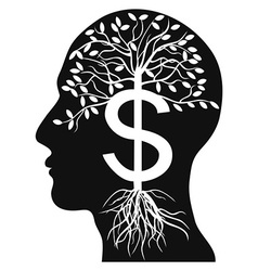 human head money tree vector image