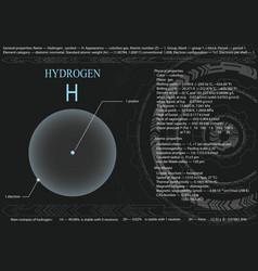 hydrogen atom vector image
