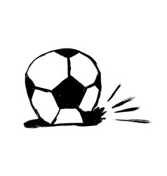 icon deflated soccer ball isolated on white vector image