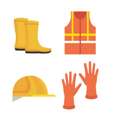 industrial security equipment icons vector image
