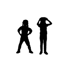 Kid activity silhouettes vector