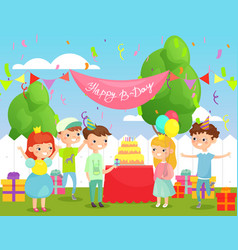 Kids birthday party vector
