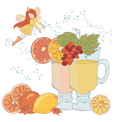 Lemonade fairy christmas vector