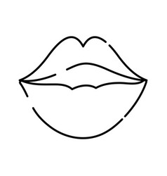 line female fashion lips style vector image