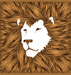 Lion head leo face vector