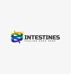 Logo intestines gradient colorful style vector