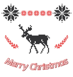 Merry Christmas greeting card Christmas background vector