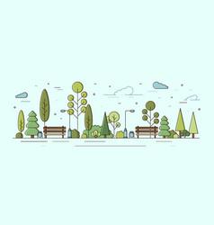 Modern urban landscape municipal park or communal vector
