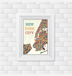new york city picture vector image