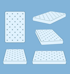 padded comfortable sleeping bed mattress in vector image