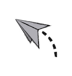 Paper airplane strategy business start up vector