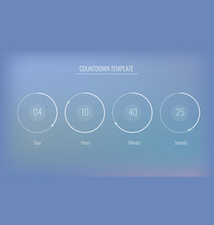 Part of the user interface clock countdown vector