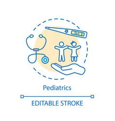 Pediatrics concept icon vector