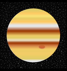 Planet jupiter and starry sky vector